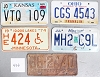 Saturday Special lot # 456, group of 5 mixed old license plates