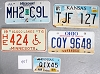 Saturday Special lot # 457, group of 5 mixed old license plates
