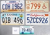 Saturday Special lot # 458, group of 5 mixed old license plates