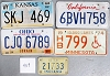 Saturday Special lot # 459, group of 5 mixed old license plates