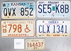 Saturday Special lot # 460, group of 5 mixed old license plates