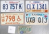 Saturday Special lot # 461, group of 5 mixed old license plates