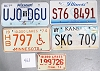 Saturday Special lot # 463, group of 5 mixed old license plates