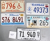 Saturday Special lot # 464, group of 5 mixed old license plates
