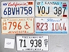 Saturday Special lot # 465, group of 5 mixed old license plates