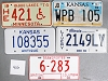 Saturday Special lot # 466, group of 5 mixed old license plates