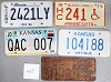 Saturday Special lot # 467, group of 5 mixed old license plates