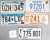 Saturday Special lot # 468, group of 5 mixed old license plates
