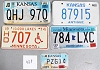 Saturday Special lot # 469, group of 5 mixed old license plates