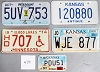 Saturday Special lot # 470, group of 5 mixed old license plates