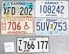 Saturday Special lot # 471, group of 5 mixed old license plates