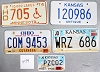 Saturday Special lot # 474, group of 5 mixed old license plates
