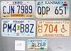 Saturday Special lot # 475, group of 5 mixed old license plates