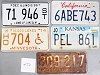Saturday Special lot # 476, group of 5 mixed old license plates