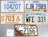 Saturday Special lot # 477, group of 5 mixed old license plates