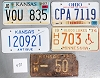 Saturday Special lot # 478, group of 5 mixed old license plates