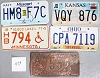 Saturday Special lot # 479, group of 5 mixed old license plates