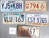 Saturday Special lot # 480, group of 5 mixed old license plates