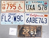 Saturday Special lot # 481, group of 5 mixed old license plates