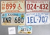 Saturday Special lot # 483, group of 5 mixed old license plates