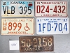 Saturday Special lot # 484, group of 5 mixed old license plates