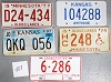 Saturday Special lot # 488, group of 5 mixed old license plates