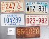Saturday Special lot # 489, group of 5 mixed old license plates