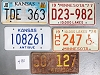 Saturday Special lot # 490, group of 5 mixed old license plates