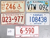 Saturday Special lot # 491, group of 5 mixed old license plates