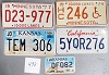 Saturday Special lot # 492, group of 5 mixed old license plates