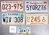 Saturday Special lot # 493, group of 5 mixed old license plates