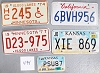 Saturday Special lot # 494, group of 5 mixed old license plates