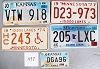 Saturday Special lot # 497, group of 5 mixed old license plates