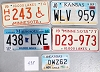 Saturday Special lot # 498, group of 5 mixed old license plates