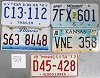 Saturday Special lot # 501, group of 5 mixed old license plates
