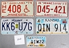 Saturday Special lot # 505, group of 5 mixed old license plates