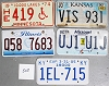 Saturday Special lot # 508, group of 5 mixed old license plates