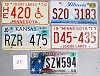 Saturday Special lot # 511, group of 5 mixed old license plates