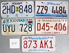 Saturday Special lot # 512, group of 5 mixed old license plates