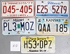 Saturday Special lot # 513, group of 5 mixed old license plates
