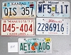 Saturday Special lot # 514, group of 5 mixed old license plates