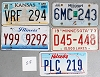 Saturday Special lot # 518, group of 5 mixed old license plates