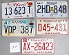 Saturday Special lot # 519, group of 5 mixed old license plates