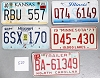 Saturday Special lot # 520, group of 5 mixed old license plates