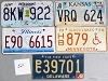 Saturday Special lot # 521, group of 5 mixed old license plates