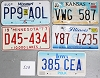 Saturday Special lot # 523, group of 5 mixed old license plates