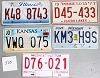 Saturday Special lot # 525, group of 5 mixed old license plates