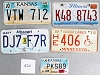 Saturday Special lot # 526, group of 5 mixed old license plates