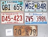 Saturday Special lot # 527, group of 5 mixed old license plates