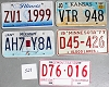Saturday Special lot # 528, group of 5 mixed old license plates